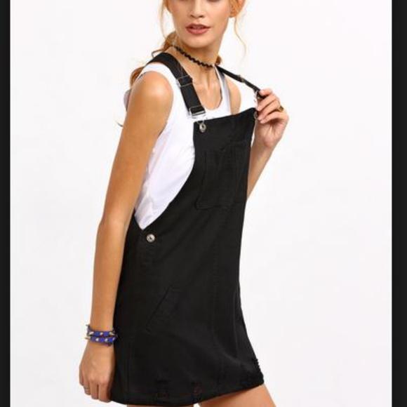 de89d84ad74 Forever 21 Dresses   Skirts - Black Overalls Dress   Jumper